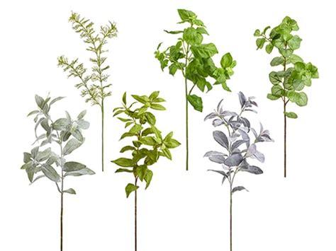 artificial   herb spray assortment  easet green
