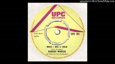 Barbara Windsor - When I Was A Child - YouTube