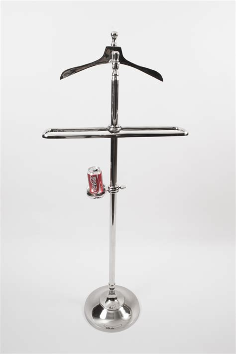 regent antiques silver  silver plate silver plate art deco style chrome valet clothes stand