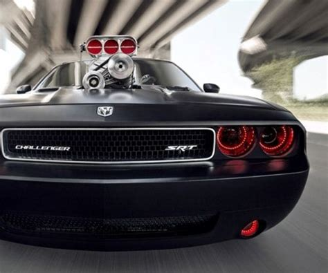 badass challenger custom dodge challenger srt8 in matte black with red