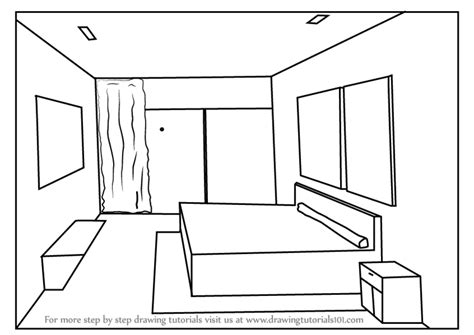 Drawing A Bedroom In One Point Perspective by Learn How To Draw One Point Perspective Bedroom One Point
