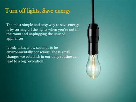 turn lights save energy