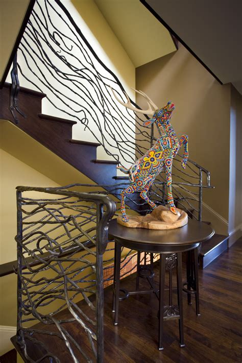 wrought iron stair railings  stunning interior