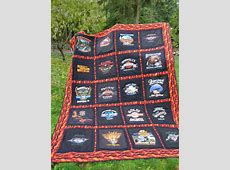 DD's first Harley TShirt Quilt finished