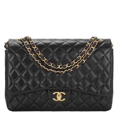chanel quilted lambskin maxi classic double flap bag black worlds