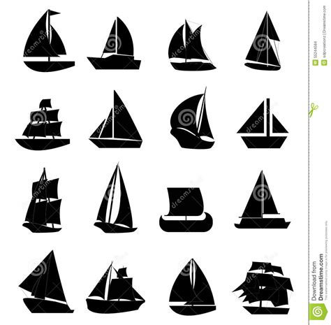 Boat Icon Tattoo by Sail Boat Icons Set Stock Vector Illustration Of Ship