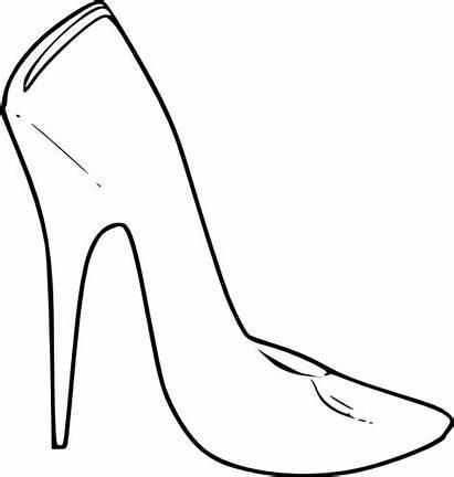 Clip Heel Shoes Vector Shoe Heels Drawing