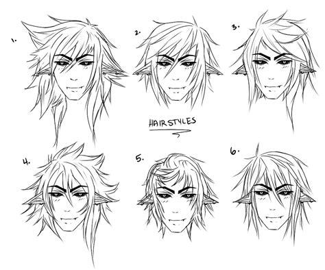 anime guy hairstyles drawing  getdrawingscom