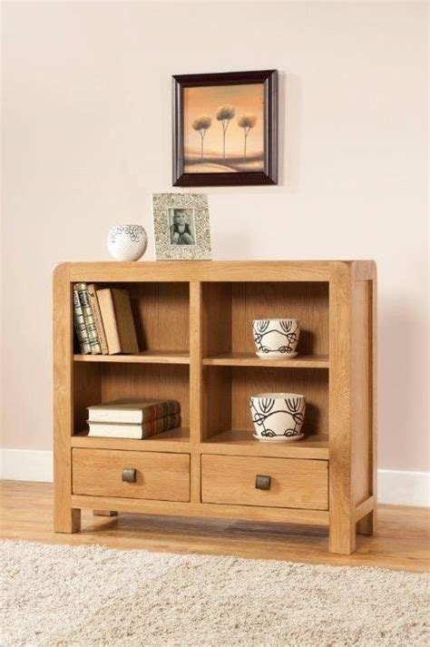Wide Bookcase With Drawers by Radford Oak Low Bookcase With 2 Drawers