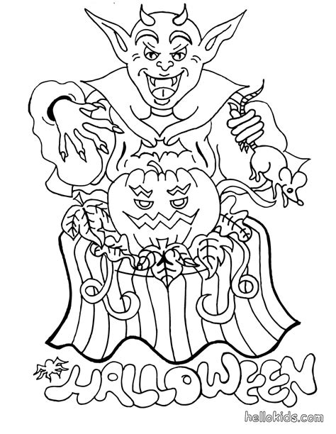 halloween coloring pages july