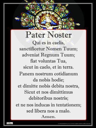 lords prayer   beautiful  latin  father