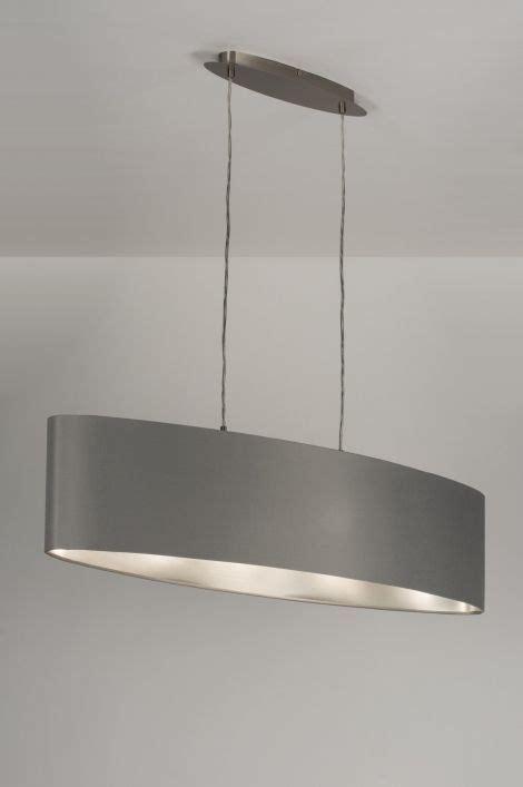 lampara colgante  moderno gris plata tela