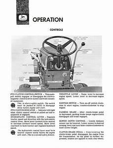 John Deere 140 Hydrostatic Tractor Operator U0026 39 S Manual
