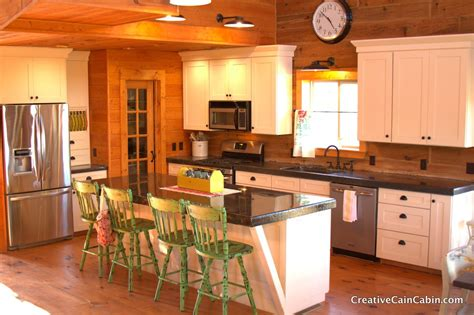 log cabin kitchen cabinets come on and get cozy in a rustic log cabin home tour