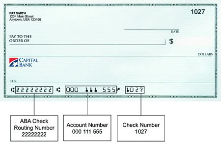 routing number capital bank