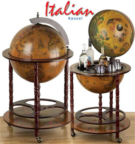 Liquor Cabinet Globe - large world globe built in bar italian pub liquor