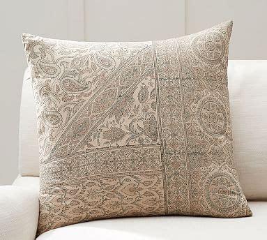 viola block print pillow cover pottery barn