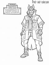 Fortnite Coloring Pages Battle Royale Drift Max Level sketch template