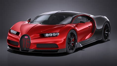 At the first major international motor show in 2019, bugatti unveiled the hyper sports car la voiture noire. Bugatti Chiron Sport 2019 Lowpoly