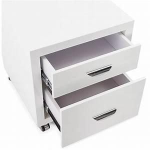 Caisson Tiroir Bois : caisson de bureau 2 tiroirs forest en bois blanc laqu ~ Teatrodelosmanantiales.com Idées de Décoration