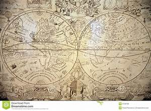 The Ancient World Map Stock Image  Image Of Culture