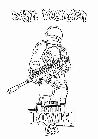 Fortnite Coloring Pages Printable Space Deep Traveler