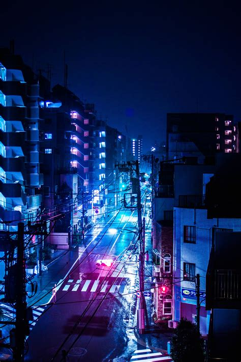 rainy night  tokyo japan en  wallpaper city