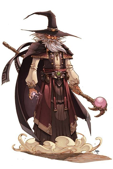 wizard dnd human dungeons dragons staff hat fantasy casting warrior male uploaded user
