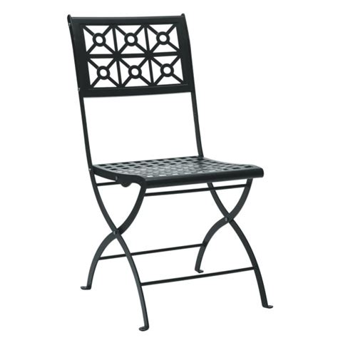 isolde wrought iron folding outdoor chair livitalia design