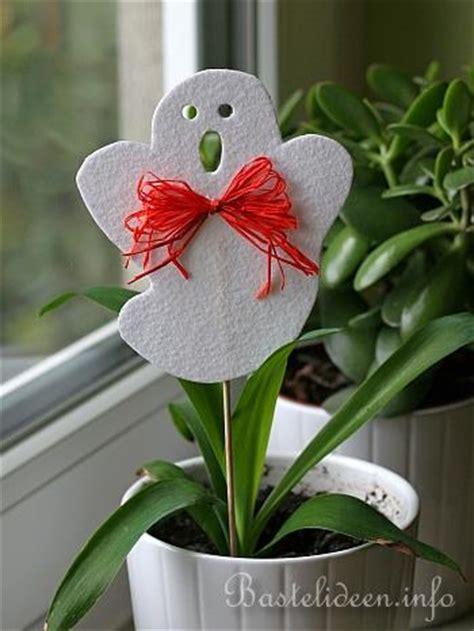 basteln mit kindern halloween pflanzenstecker aus filz