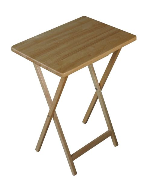 tv dinner tray table folding wooden tv tray table natural