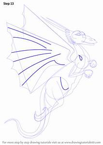 Step by Step How to Draw a Flying Dragon ...