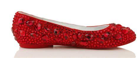 sale silver red black crystals flat heel perfect custom