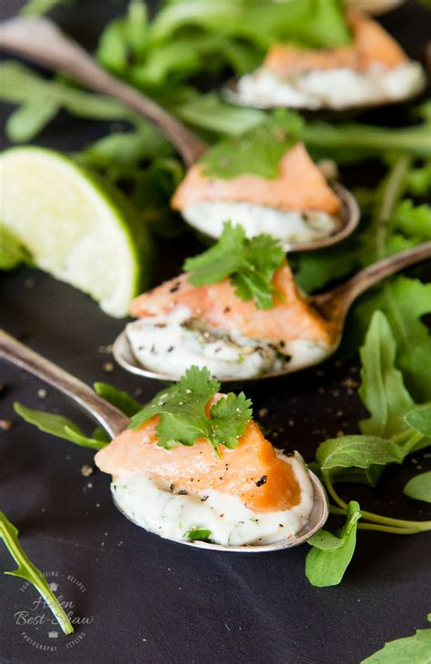 easy no cook canapes salmon ceviche recipe with herbed mayonnaise