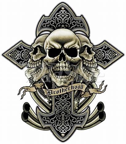 Cross Skulls Skull Tattoo Tattoos Brotherhood Cool