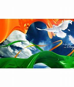 PrintingGali Tri color Flag and Peace Poster Best Price in India on 16th July 2018 - DealTuno