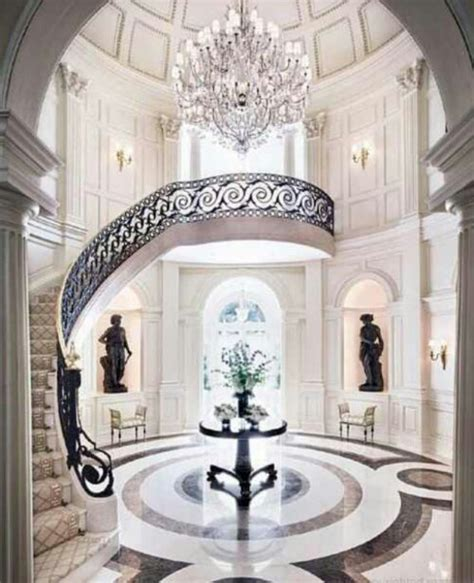 Grand Foyer by Marble And Tiled Floors In Living And Bedrooms Design