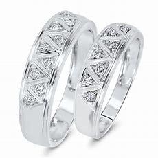 13 Carat Tw Diamond His And Hers Wedding Band Set 10k