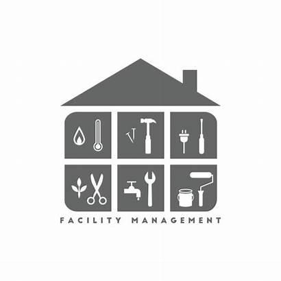 Facility Management Building Maintenance Clip Concept Tools