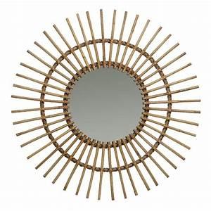 Miroir En Rotin : miroir rotin naturel vintage soleil ~ Nature-et-papiers.com Idées de Décoration