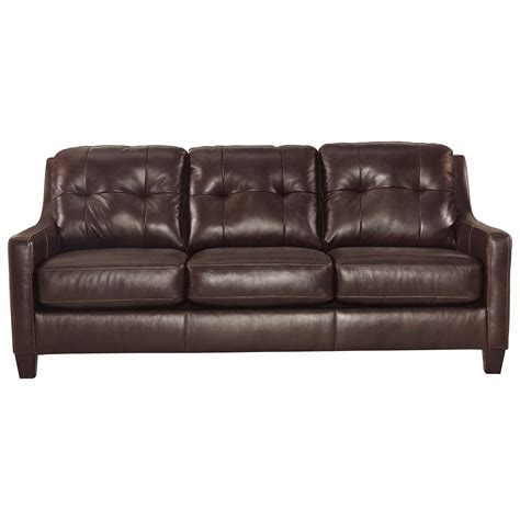 leather sleeper sofa queen contemporary leather match queen sofa sleeper by signature