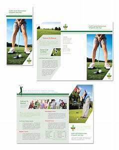 golf course instruction tri fold brochure With instruction leaflet template