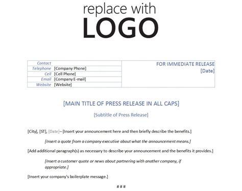 template  press release template press release