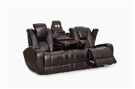 reclining sofa with drop down table cheap reclining sofas sale amalfi reclining leather sofa