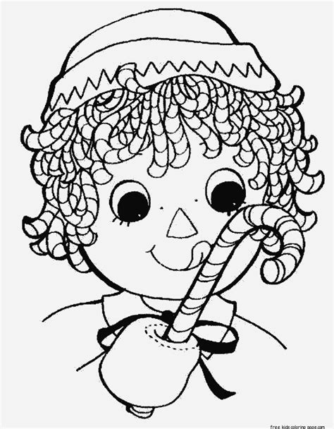 print  christmas candy canes coloring pages
