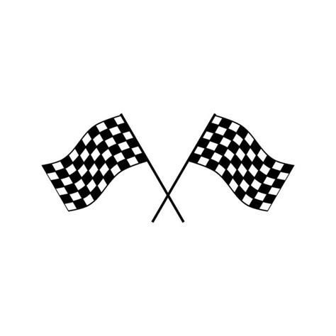 A pair of black and white checkered flag racing elements. Race Checkered Flag Win Graphics SVG Dxf EPS by ...
