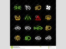 Car Dashboard Icons Stock Vector Image 39429818