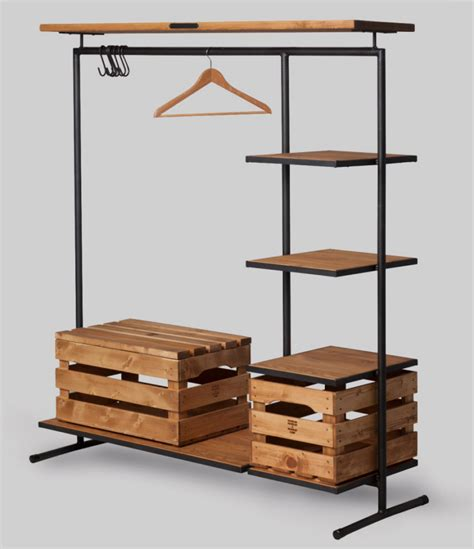 metal wood rack 26 clothes racks for homes with no closet space digsdigs