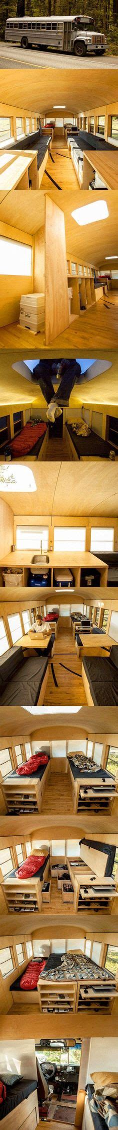 School Converted Into Small Home By Architecture Student by How To Convert A Used Trailer To A Cer Diy