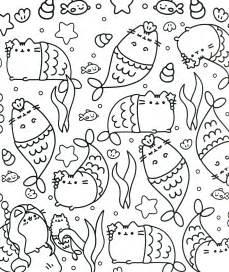Pusheen Cat Unicorn Coloring Page